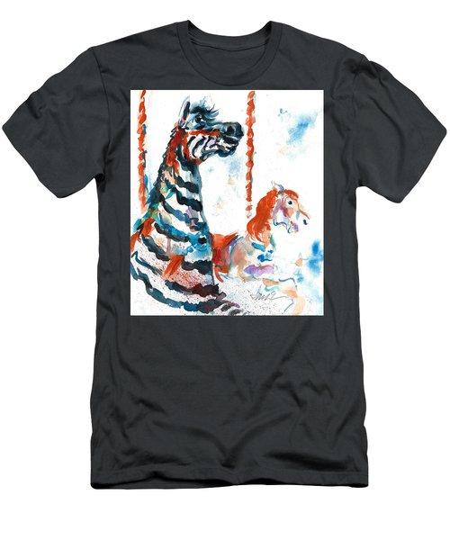 Zebra Gets A Ride The Ocean City Boardwalk Carousel Men's T-Shirt (Athletic Fit)