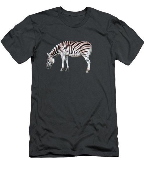 Zebra Men's T-Shirt (Slim Fit) by Pamela Walton