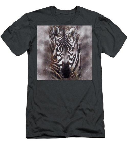Zebra Splash Men's T-Shirt (Athletic Fit)