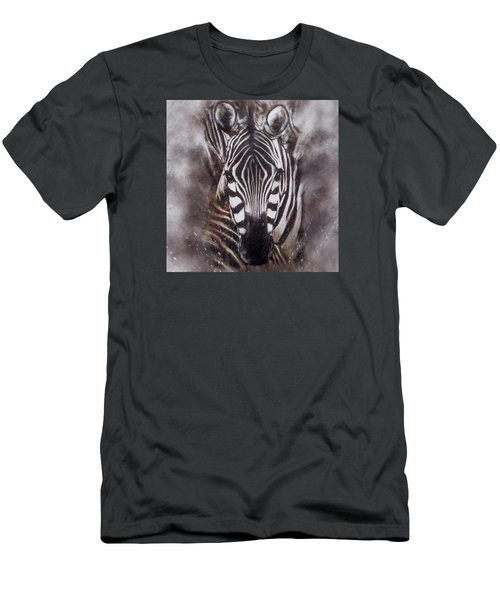 Zebra Splash Men's T-Shirt (Athletic Fit)