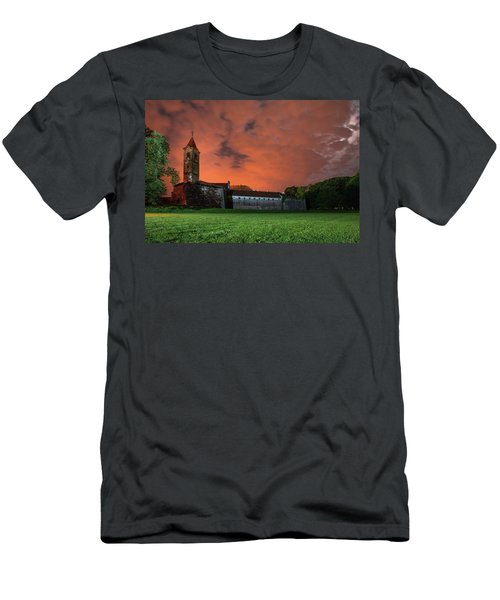Men's T-Shirt (Athletic Fit) featuring the photograph Zrinskis' Castle 2 by Davor Zerjav