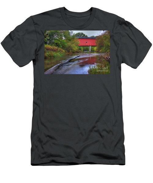 Zumbrota Minnesota Historic Covered Bridge 5 Men's T-Shirt (Athletic Fit)