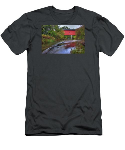 Zumbrota Minnesota Historic Covered Bridge 5 Men's T-Shirt (Athletic Fit)