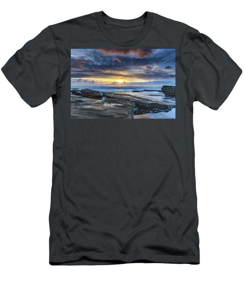 An Atmospheric Coastal Sunrise Men's T-Shirt (Athletic Fit)