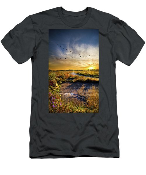 Men's T-Shirt (Athletic Fit) featuring the photograph An Old Road by Phil Koch