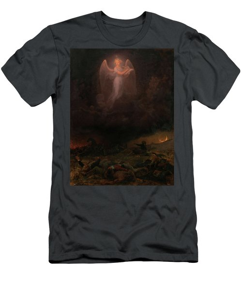 Angel On The Battlefield Men's T-Shirt (Athletic Fit)