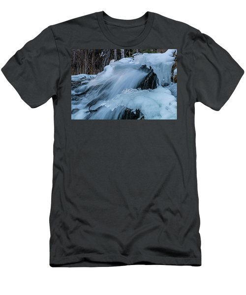 Big Hills Springs Under Snow And Ice, Big Hill Springs Provincia Men's T-Shirt (Athletic Fit)