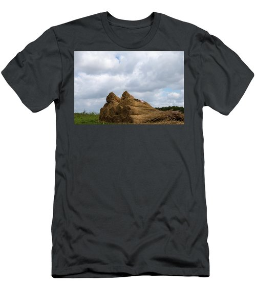 Men's T-Shirt (Athletic Fit) featuring the photograph Bound Reeds  by Anjo Ten Kate