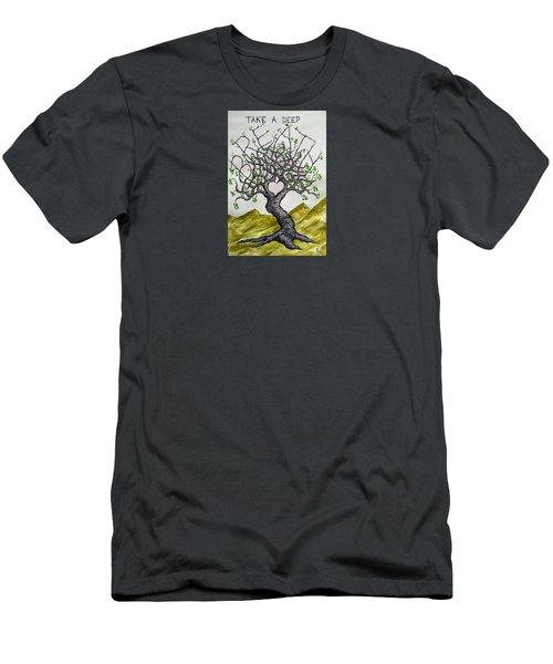 Breathe Love Tree Men's T-Shirt (Athletic Fit)