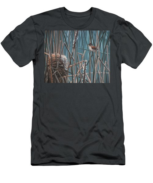 Cattail Hideaway Men's T-Shirt (Athletic Fit)