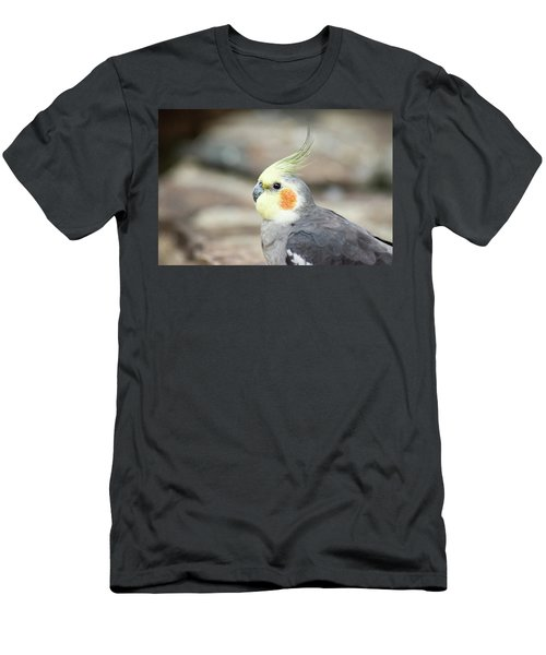 Men's T-Shirt (Athletic Fit) featuring the photograph Close Up Of A Cockatiel by Rob D Imagery