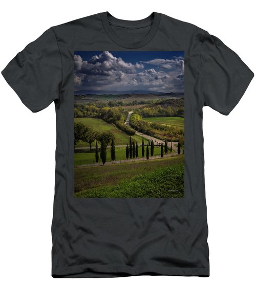 Men's T-Shirt (Athletic Fit) featuring the photograph Clouds Over Tuscany by Tim Bryan