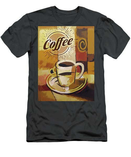 Coffee Poster Men's T-Shirt (Athletic Fit)