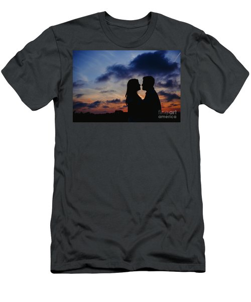 Couple With Cloud Sky Backlight Men's T-Shirt (Athletic Fit)