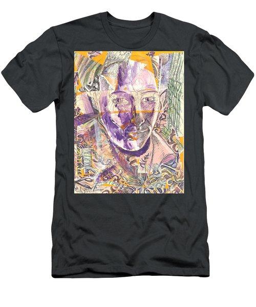 Cut Portrait Men's T-Shirt (Athletic Fit)