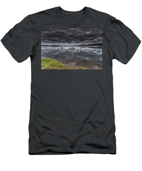 Early Morning Clouds And Reflections On The Bay Men's T-Shirt (Athletic Fit)