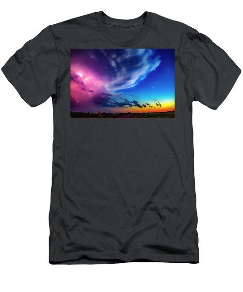 Epic Nebraska Lightning 007 Men's T-Shirt (Athletic Fit)