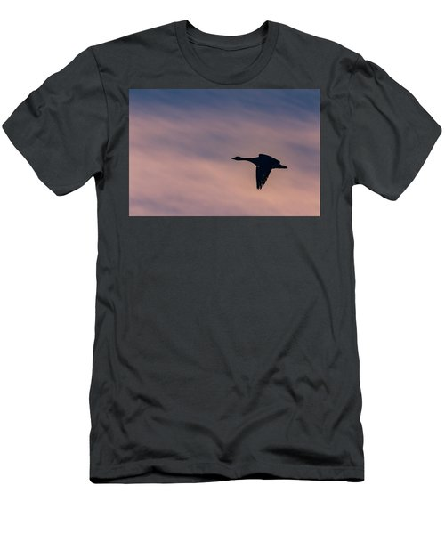 Men's T-Shirt (Athletic Fit) featuring the photograph Evening Flight by Allin Sorenson