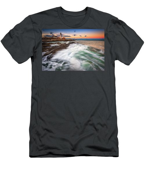 Men's T-Shirt (Athletic Fit) featuring the photograph High Tide At Dusk by Rick Berk