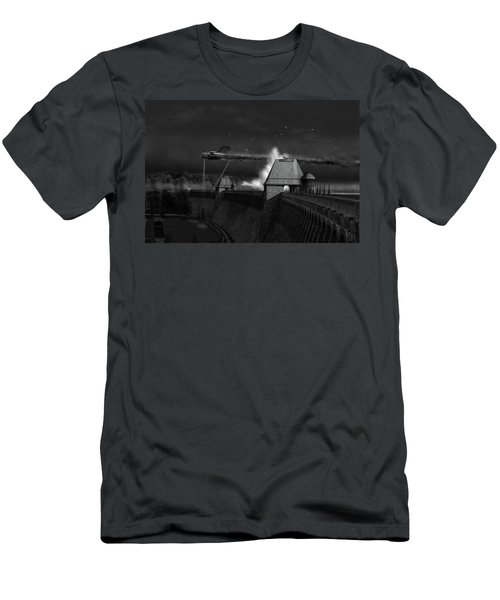Men's T-Shirt (Athletic Fit) featuring the photograph Hopgood's Last Run Black And White Version by Gary Eason