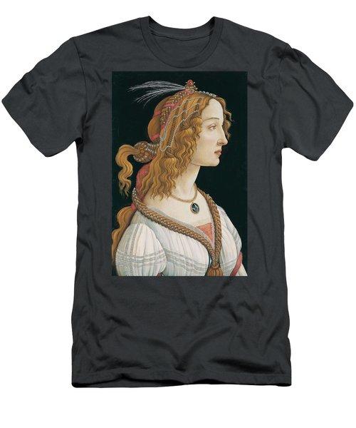 Portrait Of A Young Woman, Portrait Of Simonetta Vespucci As Nymph Men's T-Shirt (Athletic Fit)