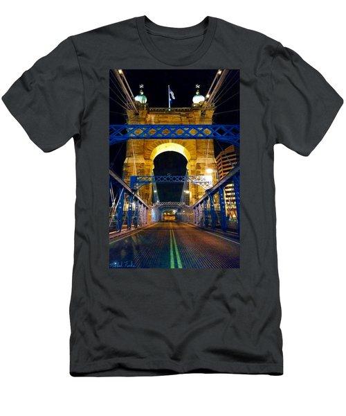 John A. Roebling Bridge Men's T-Shirt (Athletic Fit)