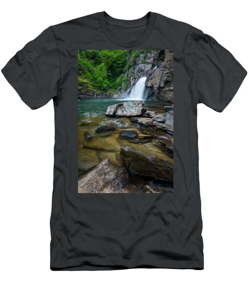 Linville Gorge - Waterfall Men's T-Shirt (Athletic Fit)