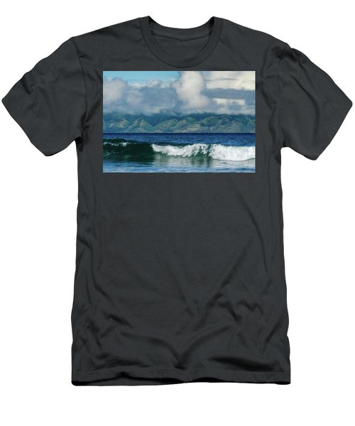 Men's T-Shirt (Athletic Fit) featuring the photograph Maui Breakers by Jeff Phillippi