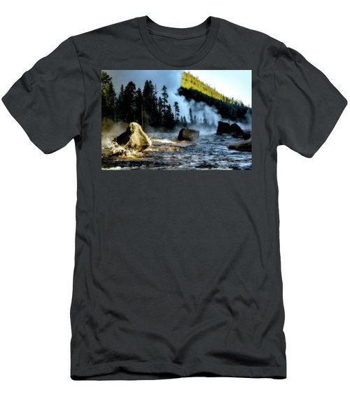 Men's T-Shirt (Athletic Fit) featuring the photograph Misty Morning by Pete Federico