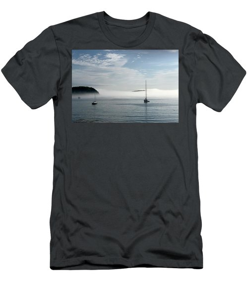 Morning Mist On Frenchman's Bay Men's T-Shirt (Athletic Fit)