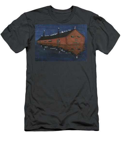 Men's T-Shirt (Athletic Fit) featuring the painting Noah's Ark by Ivar Arosenius