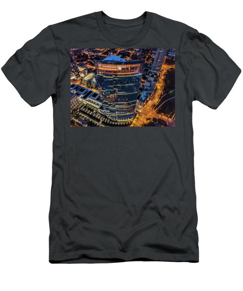 Men's T-Shirt (Athletic Fit) featuring the photograph Northwestern Mutual Tower by Randy Scherkenbach