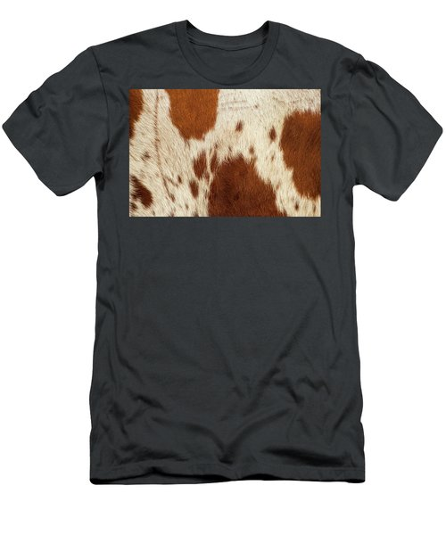 Men's T-Shirt (Athletic Fit) featuring the photograph Pattern Of A Longhorn Bull Cowhide. by Rob D Imagery