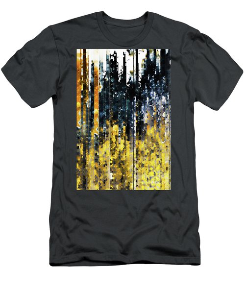 Men's T-Shirt (Athletic Fit) featuring the painting 1 Peter 1 7. Tested By Fire by Mark Lawrence