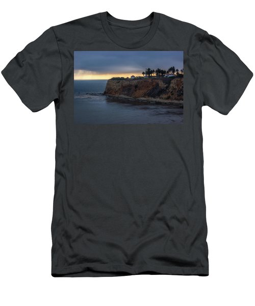Point Vicente Lighthouse At Sunset Men's T-Shirt (Athletic Fit)