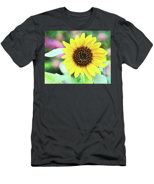 Men's T-Shirt (Athletic Fit) featuring the photograph Sunflower by Trina Ansel