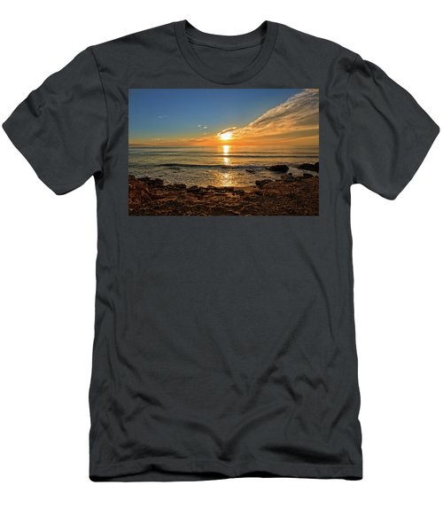 The Calm Sea In A Very Cloudy Sunset Men's T-Shirt (Athletic Fit)
