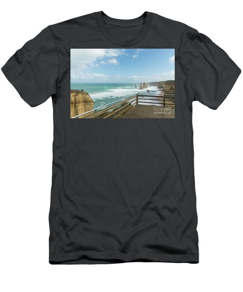 Twelve Apostles Sea Rocks Men's T-Shirt (Athletic Fit)