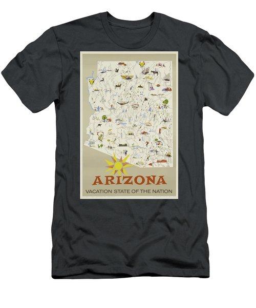 Vintage Travel Poster - Arizona Men's T-Shirt (Athletic Fit)