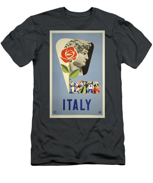 Vintage Travel Poster - Italy Men's T-Shirt (Athletic Fit)