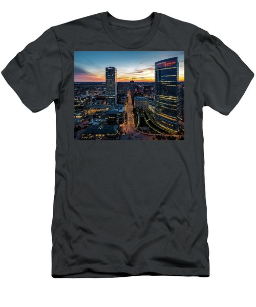 Men's T-Shirt (Athletic Fit) featuring the photograph Wisconsin Avenue by Randy Scherkenbach