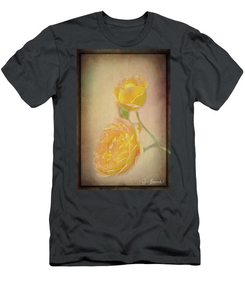 Men's T-Shirt (Athletic Fit) featuring the photograph Yellow Roses by Susan Leonard