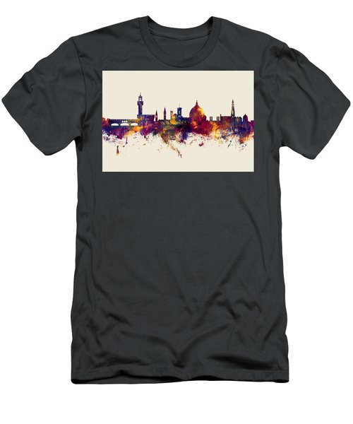 Florence Italy Skyline Men's T-Shirt (Athletic Fit)