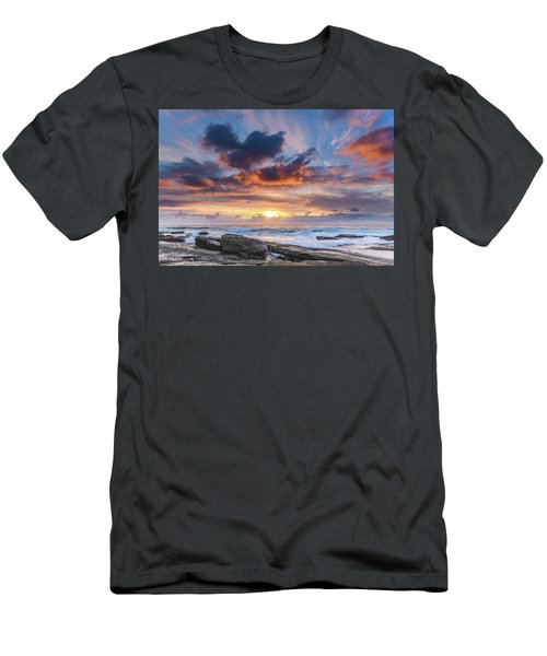 An Atmospheric Sunrise Seascape Men's T-Shirt (Athletic Fit)