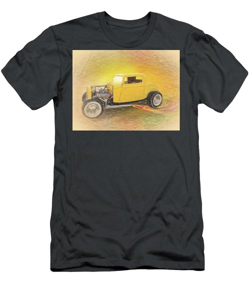 1932 Ford Coupe Yellow Men's T-Shirt (Athletic Fit)