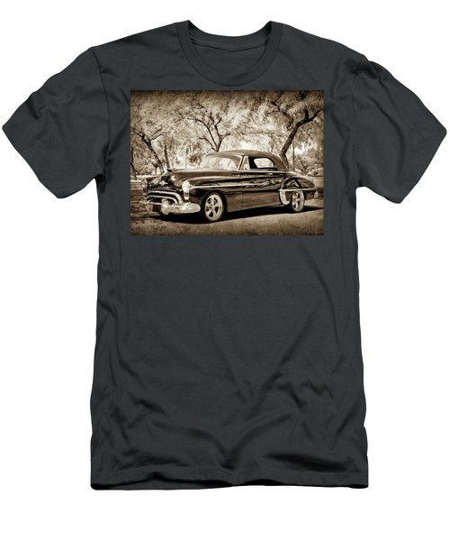 Men's T-Shirt (Athletic Fit) featuring the photograph 1950 Oldsmobile 88 -004bwcl by Jill Reger