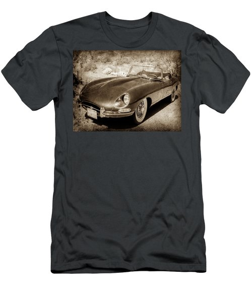 Men's T-Shirt (Athletic Fit) featuring the photograph 1963 Jaguar Xke Roadster-111scl by Jill Reger