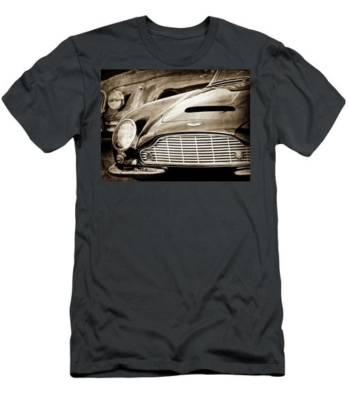 Men's T-Shirt (Athletic Fit) featuring the photograph 1965 Aston Martin Db6 Short Chassis Volante Grille-0970s2 by Jill Reger