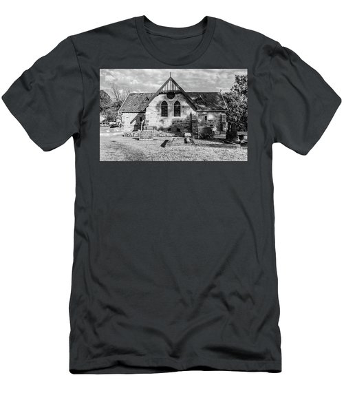 19th Century Sandstone Church In Black And White Men's T-Shirt (Athletic Fit)