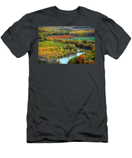 Autumn Colors On The Ebro River Men's T-Shirt (Athletic Fit)